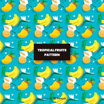 Hand drawn tropical fruit pattern