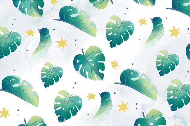 Ручной обращается тропические листья летний фон
