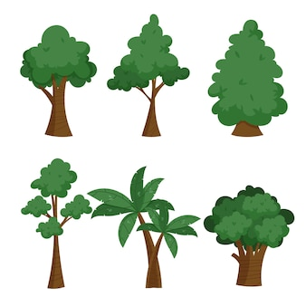 手描きタイプの木