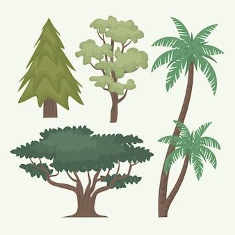 손으로 그린 유형의 나무