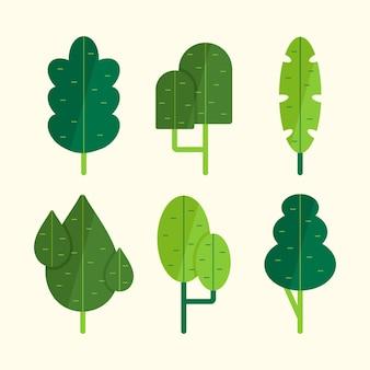 Tipo di alberi disegnati a mano