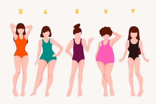 Рисованные типы женского тела