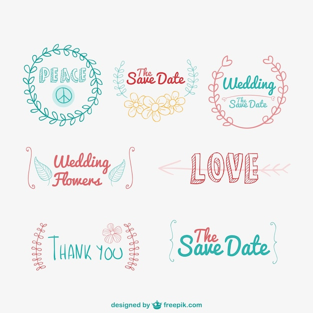 Weddings Logo Vectors Photos and PSD files Free Download