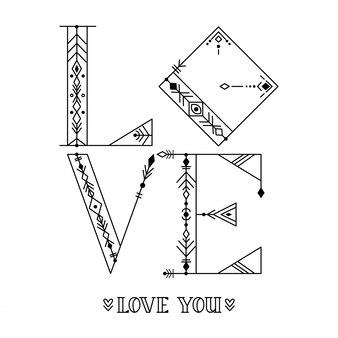 손 타이포그래피 포스터를 그려. 사랑