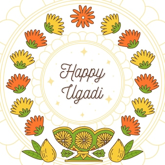Hand-drawn ugadi event