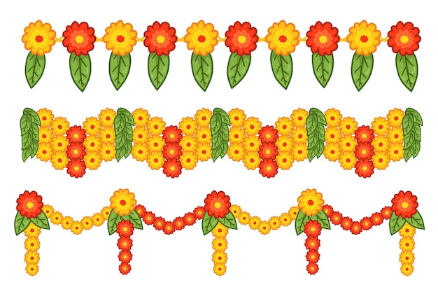 Hand drawn ugadi garland illustration