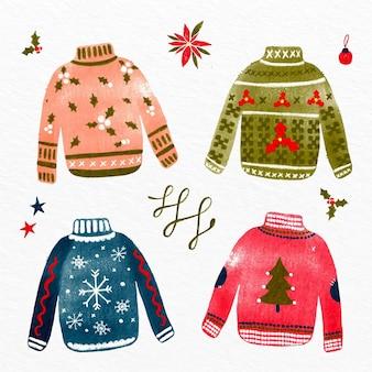 手描きの醜いセーターコレクション
