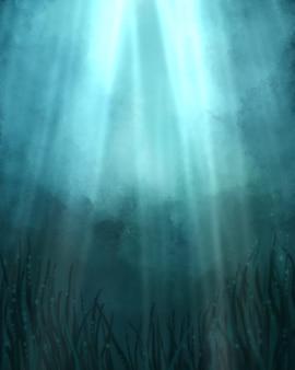 Рисованной подводный фон обои