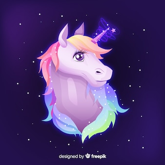 Hand drawn unicorn background