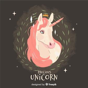 Hand drawn unicorn background