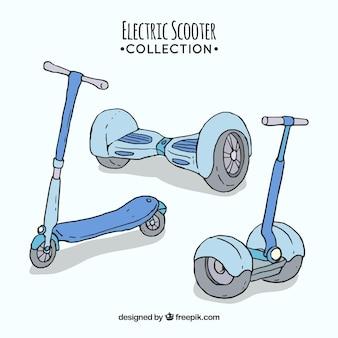 手描きの都市型スクーター