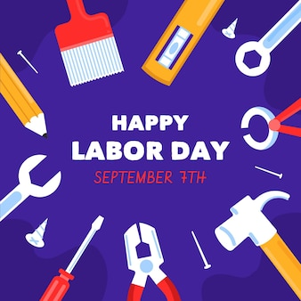 Hand drawn usa labor day concept