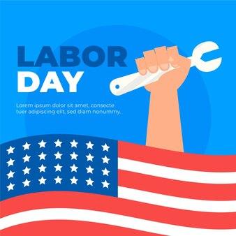手描き米国労働日のコンセプト