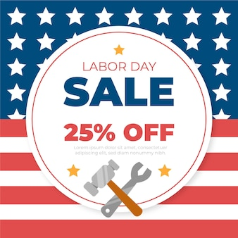 Hand drawn usa labor day sale concept