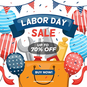 手描きアメリカ労働者の日セール