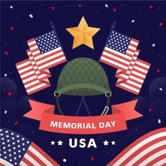 手描きアメリカ記念日のイラスト