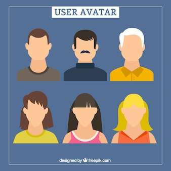 Hand drawn user avatars without faces