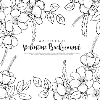 Hand drawn valentine background