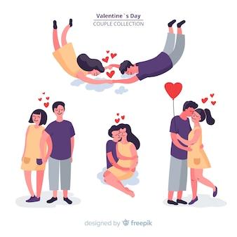 手描きのバレンタインカップルコレクション