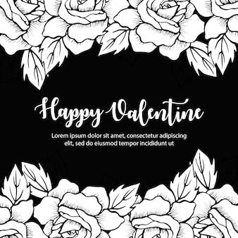 Ручной обращается валентина цветочный фон