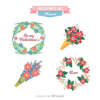 Hand drawn valentine flower pack