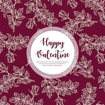 Hand drawn valentine pattern background