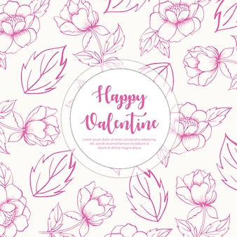 Hand drawn valentine pattern background