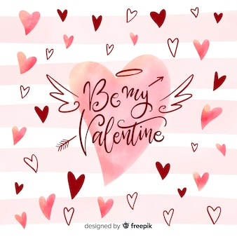 Hand drawn valentine's day background
