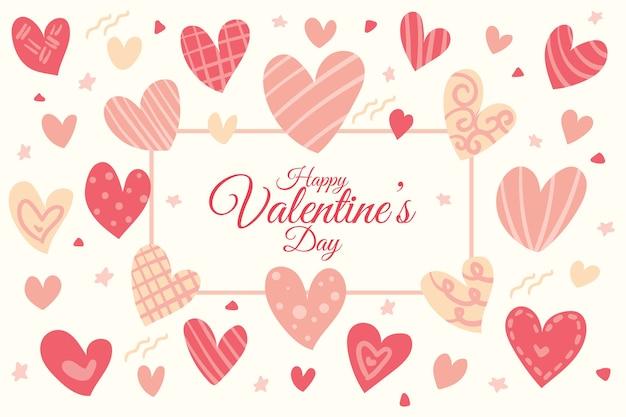 Hand drawn valentine's day background