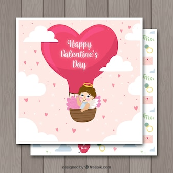 Hand drawn valentine's day card