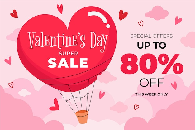 Hand drawn valentine's day discount sale