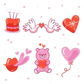 Hand drawn valentine's day element pack