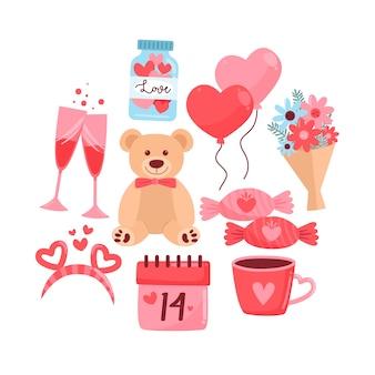 Hand drawn valentine's day element set