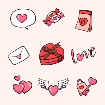 Hand drawn of valentine's day element