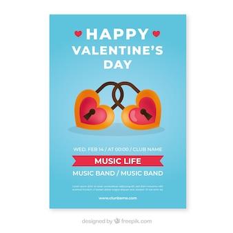 손으로 그린 발렌타인 전단지 / 포스터