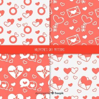Hand drawn valentine's day pattern