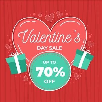 Hand drawn valentine's day sale offer