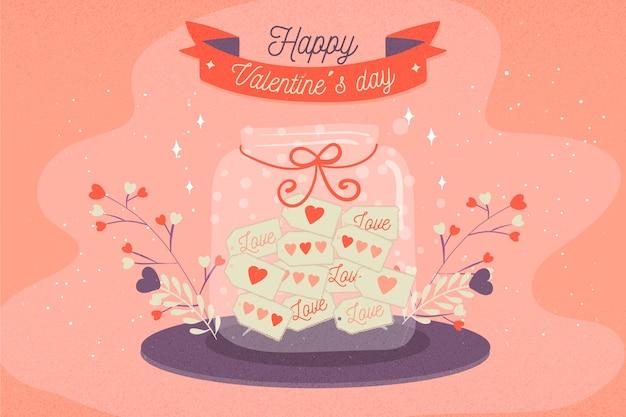 手描きのバレンタインの壁紙