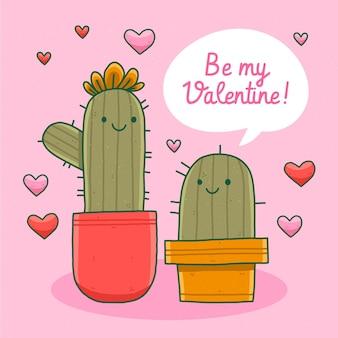 Hand drawn valentines day background