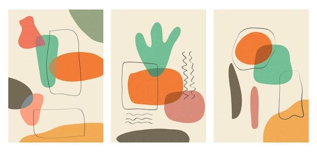 손으로 그린 배경에 대 한 다양 한 모양과 개체. 현대적이고 트렌디합니다.
