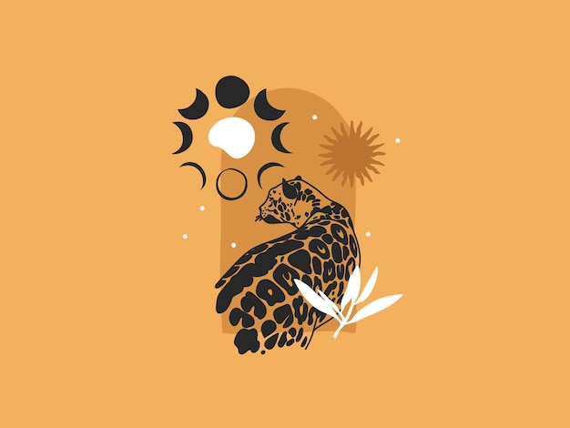 Hand drawn vector abstract stock flat graphic illustration