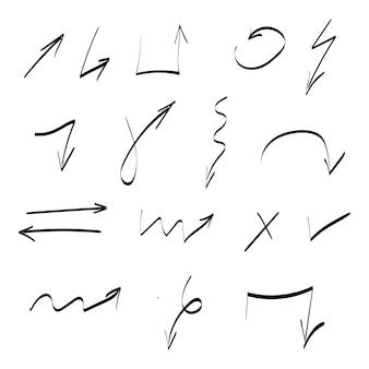 Набор рисованной векторные стрелки