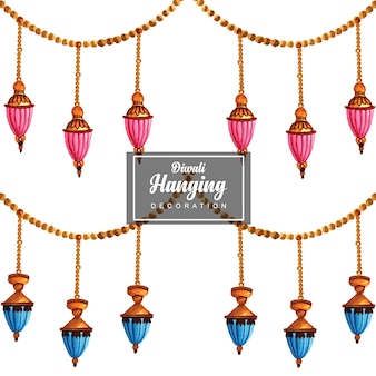Hand drawn vector hanging strings designs