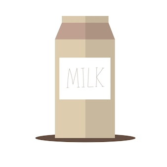 カートンミルクボックスパッケージと手描きのベクトルイラスト。ポスター、バナー、ウェブ、tシャツのプリント、バッグのプリント、バッジ、チラシ、ロゴデザインなどに使用されます。