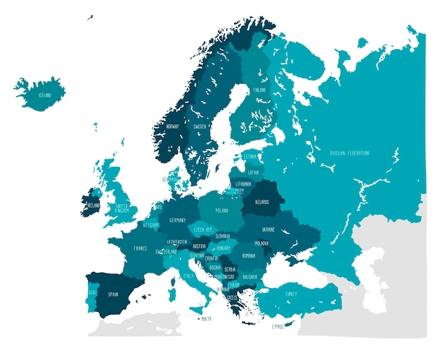 ヨーロッパの手描きベクトル地図i