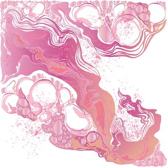 Hand-drawn vector marble abstract background