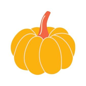 Hand drawn vector pumpkin autumn harvesting concept