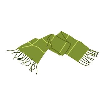 Hand drawn vector warm scarf for autumn or winter season