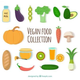 Рисованной овощи и фрукты для здорового питания
