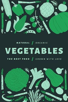 Hand drawn vegetables poster